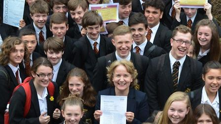Beaumont School's headteacher, Elizabeth Hitch, and students are celebrating after the school was ju