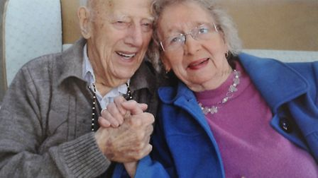 Harry and Sylvia Sells, celebrate their wedding anniversary.