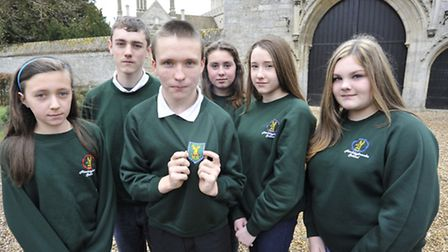 Hinchingbrooke School are to change their uniform, parents and pupils are against it, (l-r) Maddi Pe