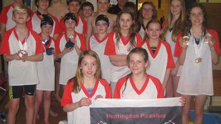 Huntingdon Piranhas Swimming Club continued the habit of punching above their weight at the County C