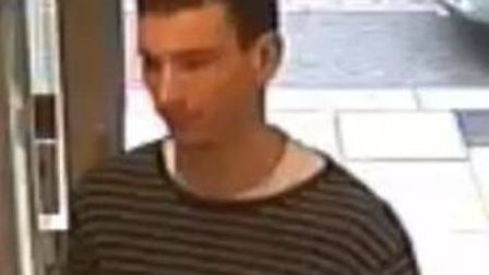 Police wish to speak to this man in connection with a theft from Boots in Royston