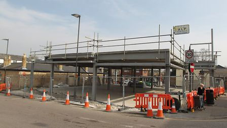 The site where the new Tesco store will be built near Market Hill in Royston