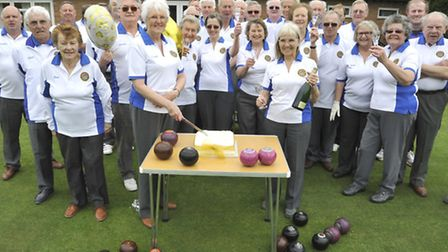 Houghton & Wyton Bowls Club celebrate their aniversary, and opening of season, with a club members a