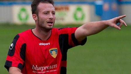 St Neots Town football player Dave Deeney is being investigated by the FA over tweets. Picture: Clai