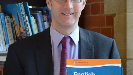 Mark Pedroz, head of English at St Albans School, with his new book published by Oxford University P