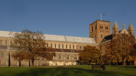 south view of St Albans cathedral