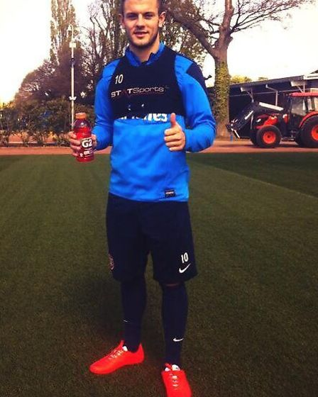 Arsenal star Jack Wilshere is happy about putting his boots back on despite his recent injury. Photo