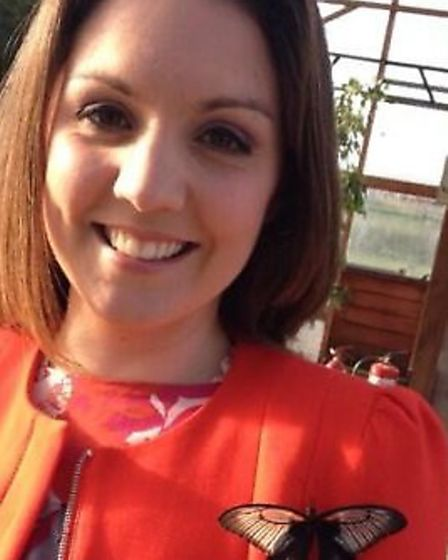 ITV's Laura Tobin at Butterfly World in St Albans