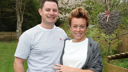 Tim Day with fiancée Jen Berridge after arranging a flash mob dance proposal with 52 friends and fam