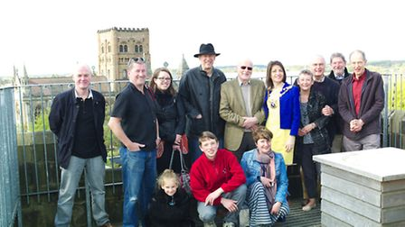 St Albans Mayor Cllr Annie Brewster opens the Clock Tower for its 2014 season