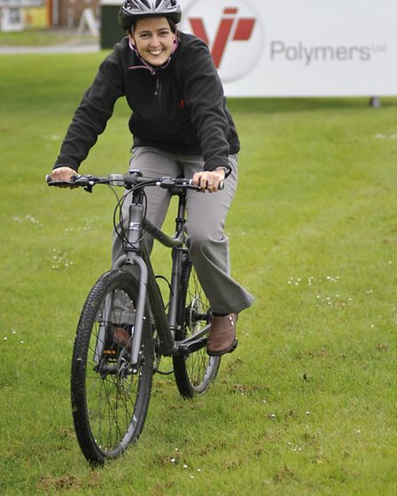 VIP Polymers, Huntingdon, sponsoring Two Wheels for Woodlands, Commercial Executive Natalia Tucker,