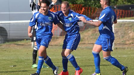 London Colney celebrate going 2-0 up