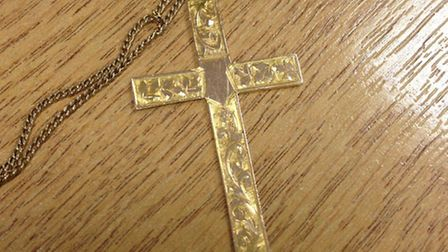 Found in St Albans: the crucifix is believed to be of sentimental value