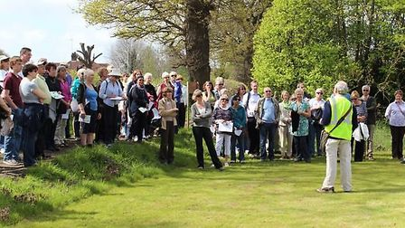 Last year's guided walk saw great success and there is hope to attract similar crowds this year