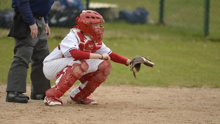 Great Britain U16 and Herts Eagles catcher Conner Brown. Picture: Richard Lee Photography