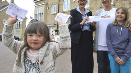 Smal Steps wins community chest from Taylor Wimpey, at Knight Park St Neots, are (front) Freya Watso