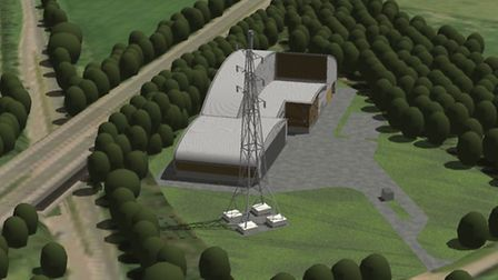An artist's impression of what the biomass facility will look like