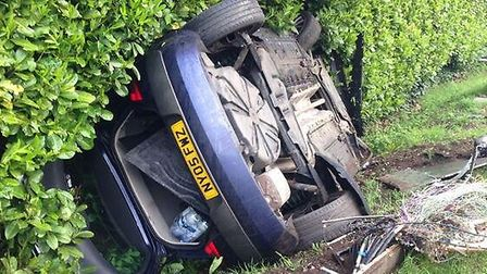 Two people escaped injury in a crash in Bury. Picture: @BCHRoadsPolicing