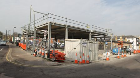 Site where the new Tesco store will be built near Market Hill in Royston