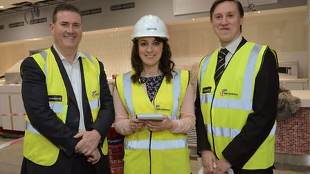 (From left to right) Vice president of operations at Cineworld Matthew Eyre, Lauren Nash, and genera