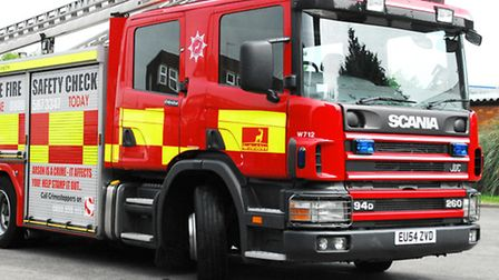 Firefighters were called to Papworth Woods yesterday.