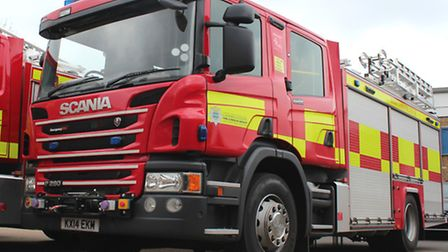 Firefighters were called to Meadow Lane yesterday.