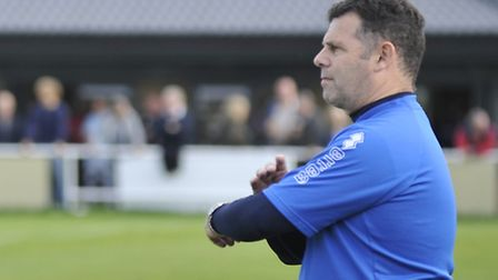 Godmanchester Rovers joint manager Nev Nania. Picture: Helen Drake