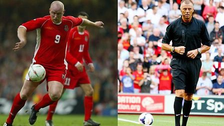 John Hartson and Mark Halsey will speak at Roundwood Park's Sportsman's Dinner on July 16. Pictures: