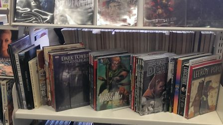 Mature readers graphic novels at Harpenden Library