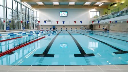 Entrants will have to swim eight lengths as part of the triathlon challenge