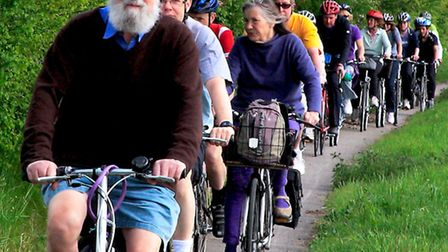 Members of the A10 Corridor Cycling Campaign on last year's awareness ride