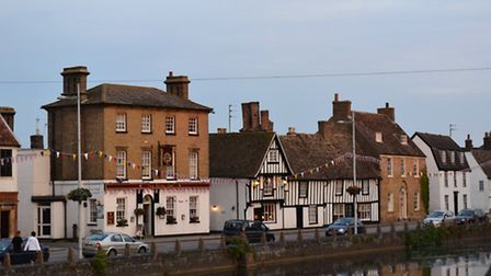 The Causeway, Godmanchester where Mark Duffield likes to relax at the Royal Oak and watch the sunset