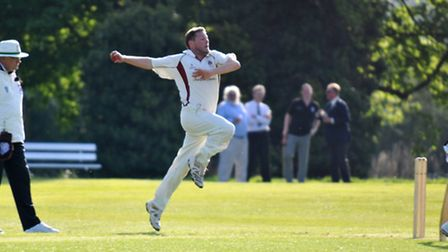 Simon White took two wickets and scored 36 runs for Harpenden. Picture: Alastair Crowe