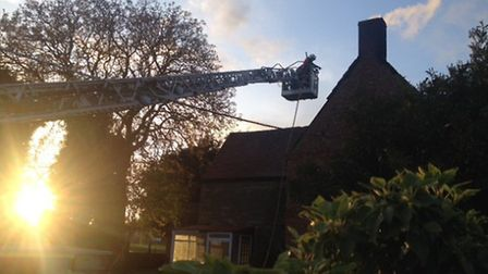 A Winwick farmhouse has been gutted by fire. Picture: CAMBS FIRE
