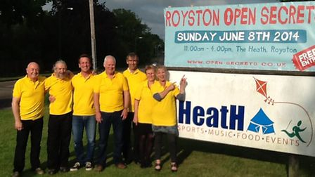 The organising committee of Royston Open Secrets are getting ready for the big day