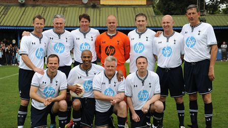 Spurs legends at Clarence Park earlier this year. Picture: Bob Walkley
