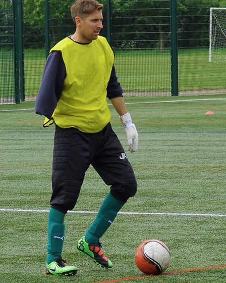 Gary Marheineke training with the England Amputee team at St Ives Outdoor Centre.