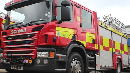Firefighters tackled a lorry fire on the A14 this morning.