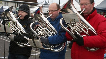 Three wise men from The Royston Town Band. Credit: Clive Porter