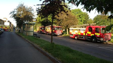 Fire in Upper Culver Road, St Albans. Photo courtesy of Marina Hop
