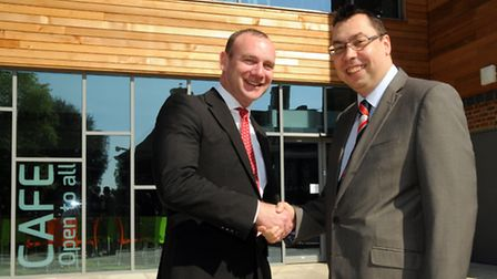 1Life contracts manager Alex Bedford, head of community services at St Albans Council Richard Shwe