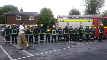 The students are put through their paces at Royston Fire Station
