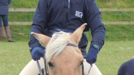 Ten- year-old Adam Sharp (pictured riding Simba), came first in the junior class at the Eastern Regi