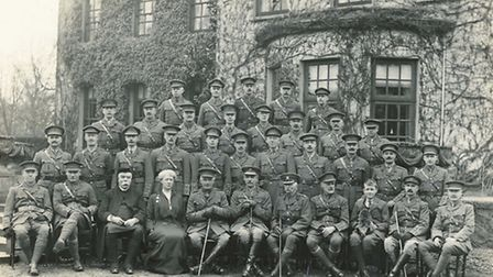 Officers of the Huntingdonshire Volunteers' Regiment of the Great War