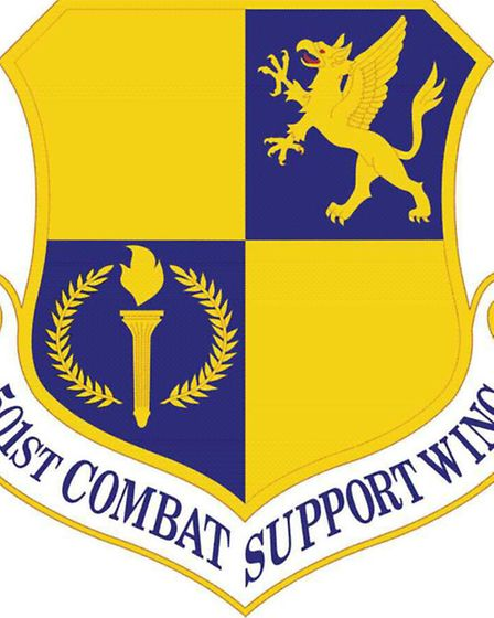 501 Combat Support Wing badge