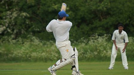 Alistair Sykes opens the batting for Wheathampstead CC 2nds. Picture: Phil Ross