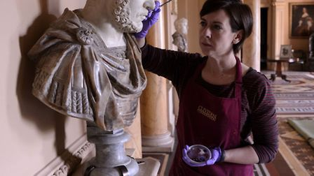 Roman busts at Wimpole Hall