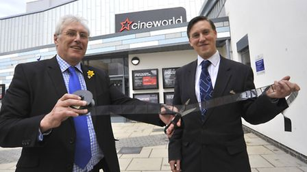 (Left-right) Councillor Barry Chapman and general manager Nick Bashford.