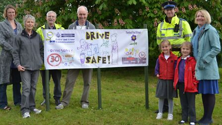 The DriveSafe team (Cynthia Combe, Sally Whitby, Clive Close and David Whitby), with Clover Cockburn