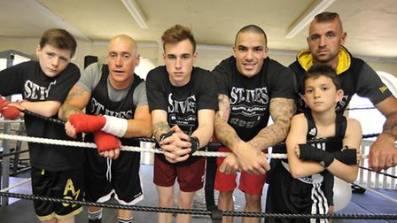 St Ives Boxing Club fighters Harry Haynes, Matt Cable, Bradley Smith, Karl Wheeler, Hope Price, and